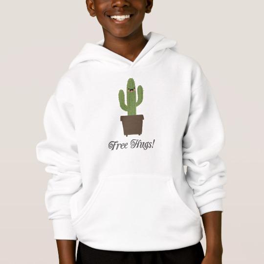 Cactus Offering Free Hugs Kids' Hanes ComfortBlend® Hoodie