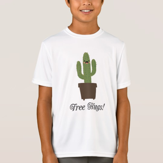 Cactus Offering Free Hugs Kids' Sport-Tek Competitor T-Shirt