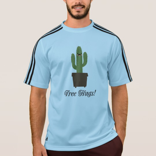 Cactus Offering Free Hugs Men's Adidas ClimaLite® T-Shirt