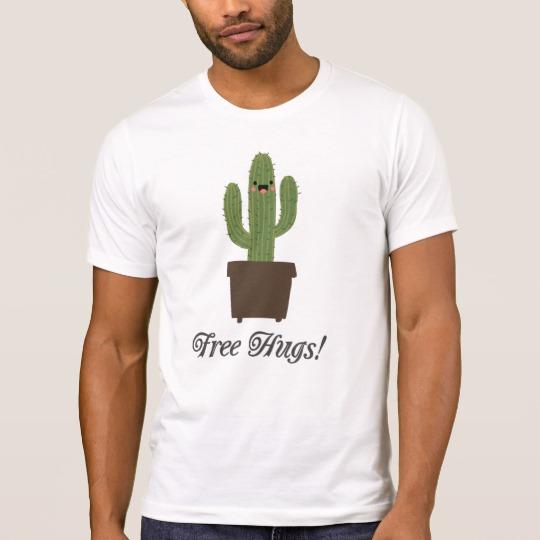 Cactus Offering Free Hugs Men's Alternative Apparel Crew Neck T-Shirt