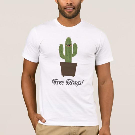 Cactus Offering Free Hugs Men's Basic American Apparel T-Shirt