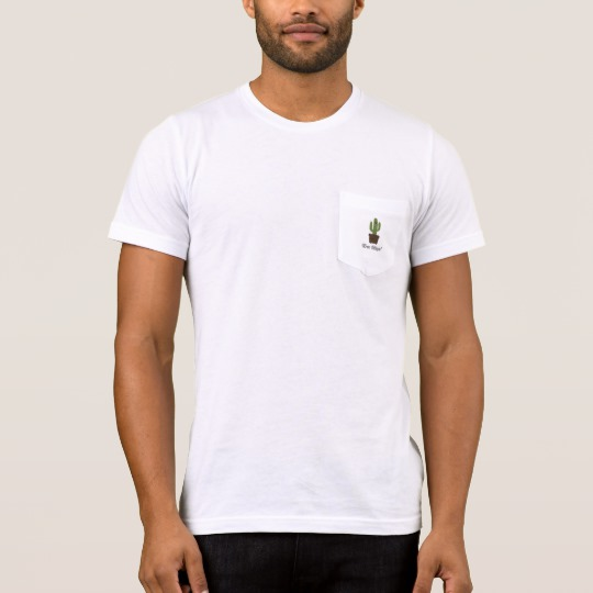 Cactus Offering Free Hugs Men's Bella+Canvas Pocket T-Shirt