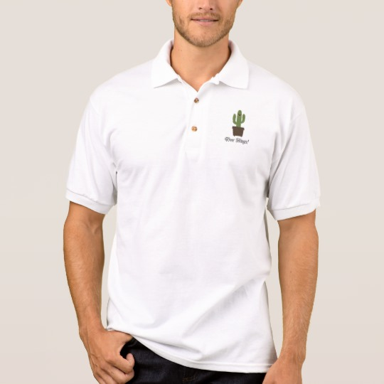 Cactus Offering Free Hugs Men's Gildan Jersey Polo Shirt