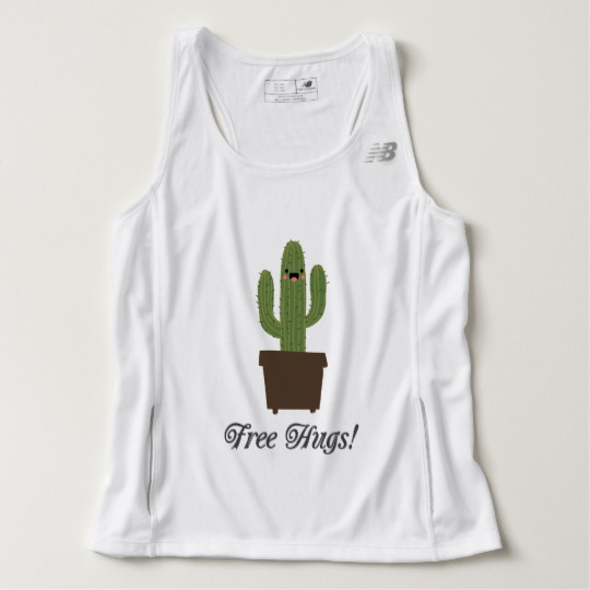 Cactus Offering Free Hugs Men's New Balance Tempo Running Tank Top