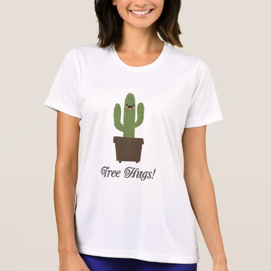 Cactus Offering Free Hugs Men's Sport-Tek Competitor T-Shirt