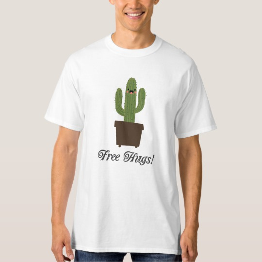 Cactus Offering Free Hugs Men's Tall Hanes T-Shirt