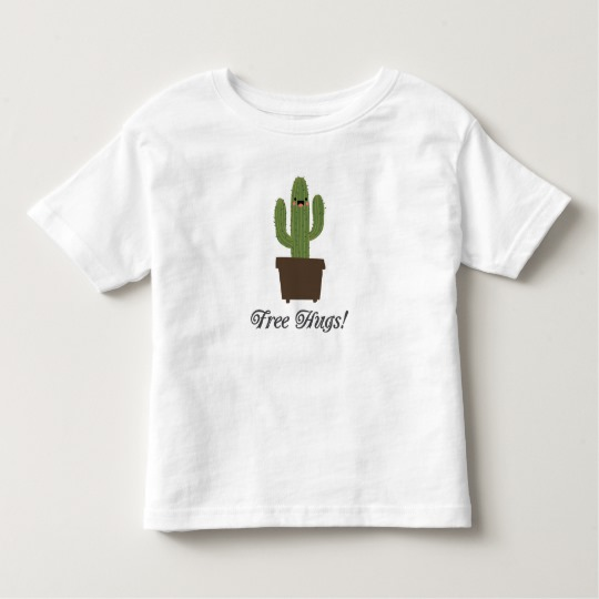 Cactus Offering Free Hugs Toddler Fine Jersey T-Shirt