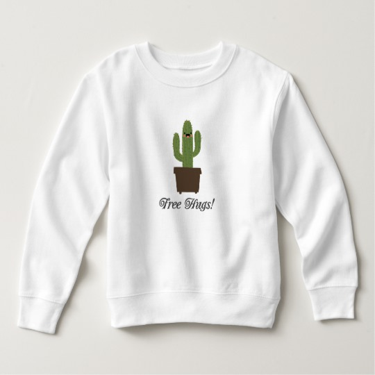 Cactus Offering Free Hugs Toddler Fleece Sweatshirt
