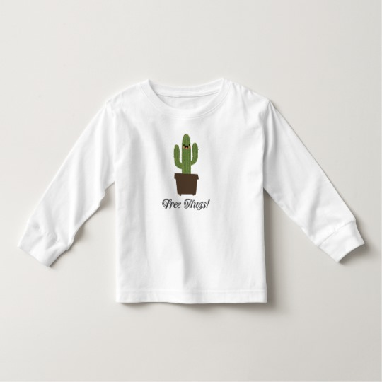 Cactus Offering Free Hugs Toddler Long Sleeve T-Shirt