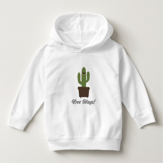 Cactus Offering Free Hugs Toddler Pullover Hoodie
