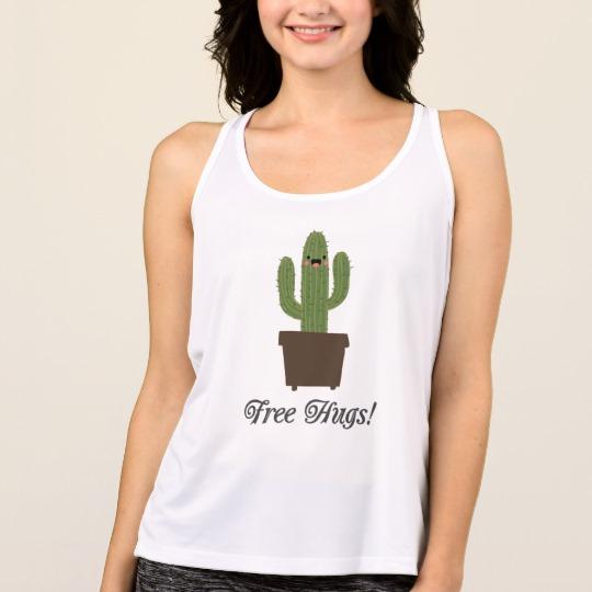 Cactus Offering Free Hugs Women's All Sport Performance Tank Top