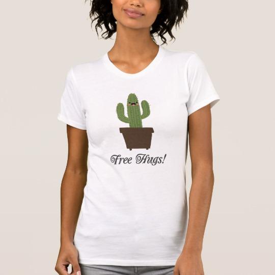 Cactus Offering Free Hugs Women's Alternative Apparel Crew Neck T-Shirt