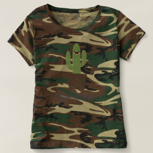 Cactus Offering Free Hugs Women's Camouflage T-Shirt