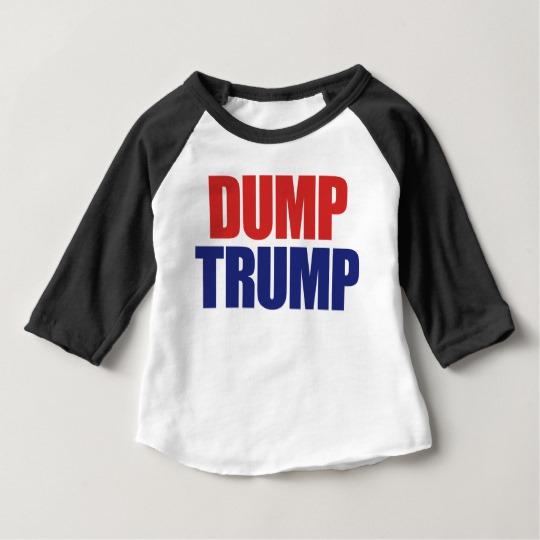 Dump Trump Baby American Apparel 3/4 Sleeve Raglan T-Shirt