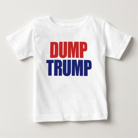 Dump Trump Baby Fine Jersey T-Shirt