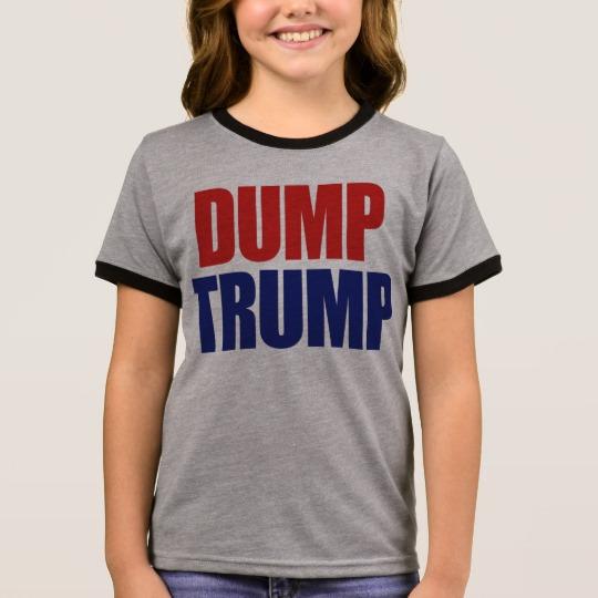 Dump Trump Girl's Ringer T-Shirt