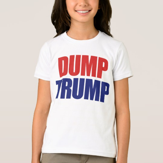 Dump Trump Girls' American Apparel Fine Jersey T-Shirt