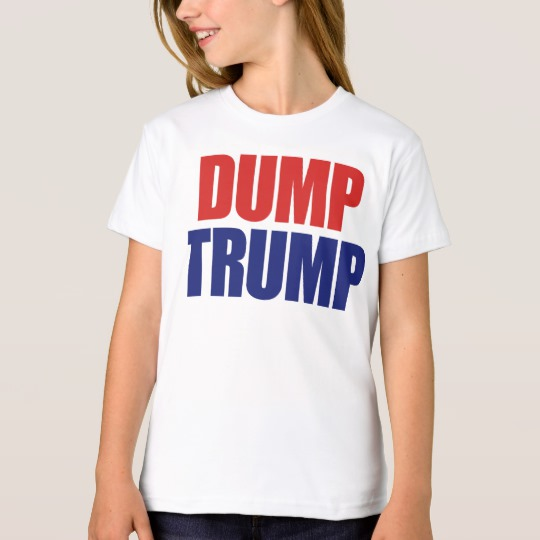 Dump Trump Girls' American Apparel Organic T-Shirt