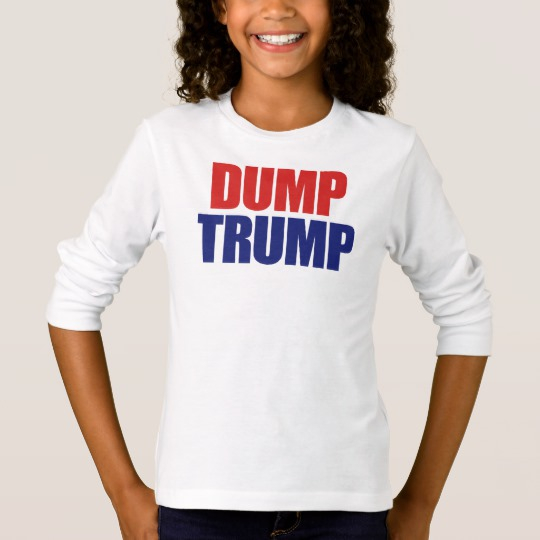 Dump Trump Girls' Basic Long Sleeve T-Shirt
