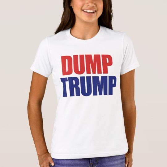 Dump Trump Girls' Bella+Canvas Crew T-Shirt