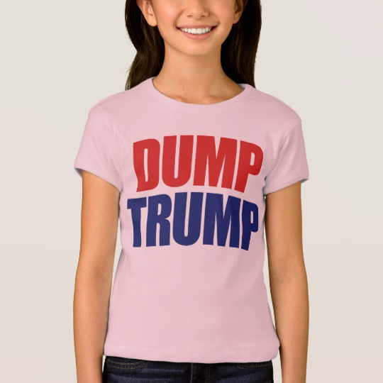 Dump Trump Girls' Bella+Canvas Fitted Babydoll T-Shirt