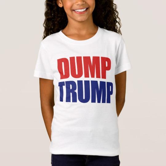 Dump Trump Girls' Fine Jersey T-Shirt