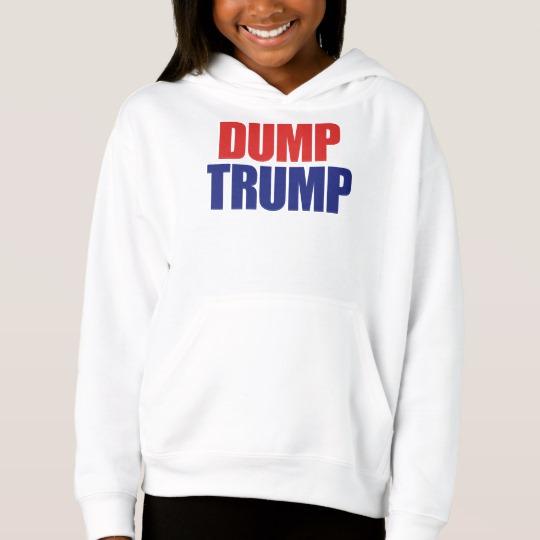 Dump Trump Girls' Fleece Pullover Hoodie