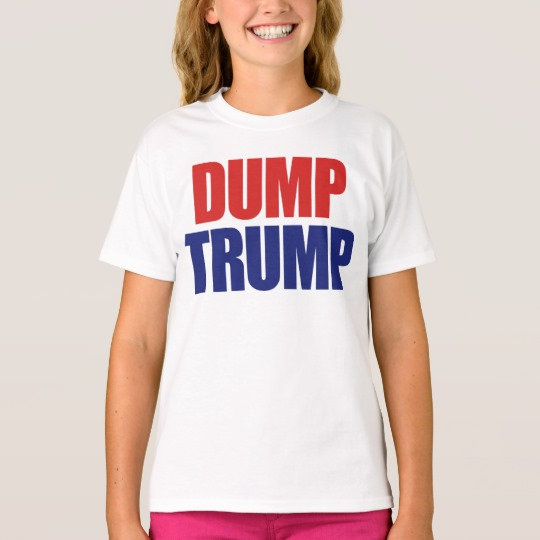 Dump Trump Girls' Hanes TAGLESS® T-Shirt