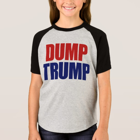Dump Trump Girls' Short Sleeve Raglan T-Shirt