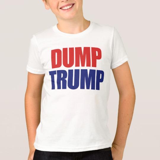Dump Trump Kids' American Apparel Fine Jersey T-Shirt