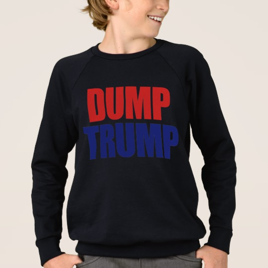 Dump Trump Kids' American Apparel Raglan Sweatshirt