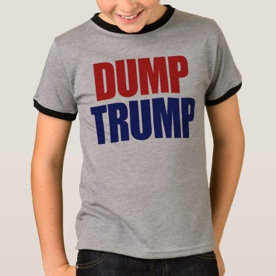Dump Trump Kids' Basic Ringer T-Shirt
