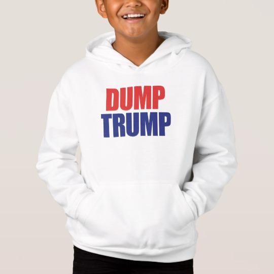 Dump Trump Kids' Fleece Pullover Hoodie