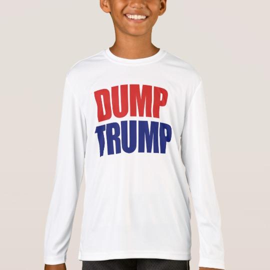Dump Trump Kids' Sport-Tek Competitor Long Sleeve T-Shirt