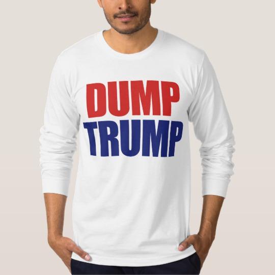 Dump Trump Men's American Apparel Fine Jersey Long Sleeve T-Shirt