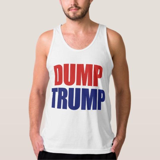 Dump Trump Men's American Apparel Fine Jersey Tank Top