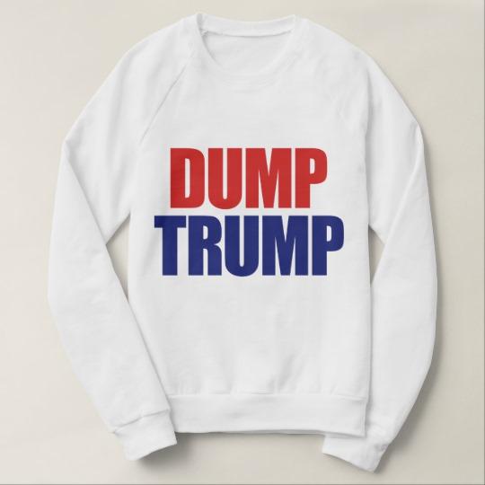 Dump Trump Men's American Apparel Raglan Sweatshirt