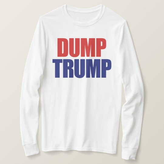 Dump Trump Men's Basic Long Sleeve T-Shirt