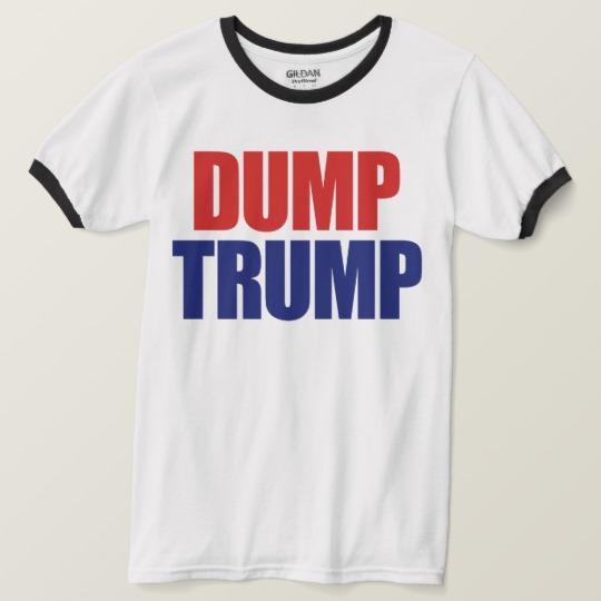 Dump Trump Men's Basic Ringer T-Shirt