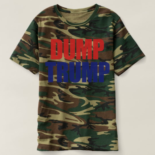 Dump Trump Men's Camouflage T-Shirt