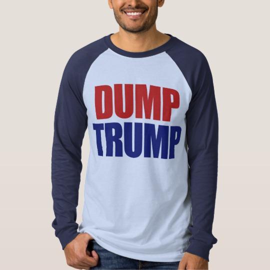Dump Trump Men's Canvas Long Sleeve Raglan T-Shirt