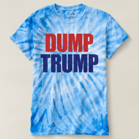 Dump Trump Men's Cyclone Tie-Dye T-Shirt