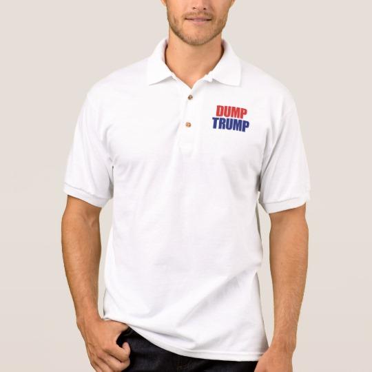 Dump Trump Men's Gildan Jersey Polo Shirt
