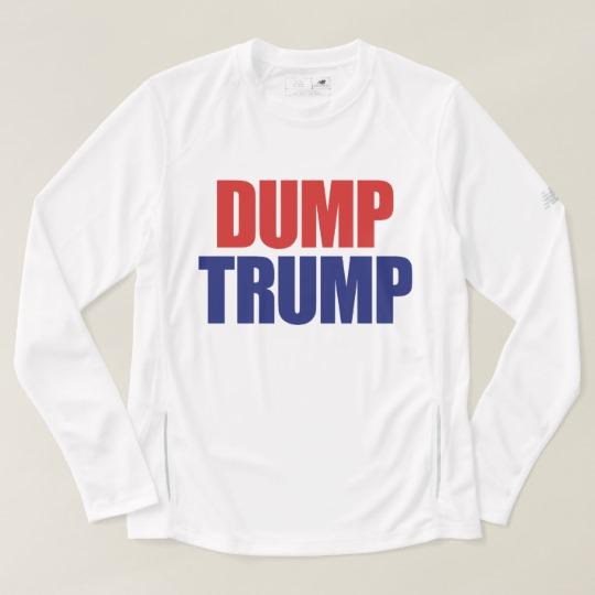 Dump Trump Men's New Balance Long Sleeve T-Shirt
