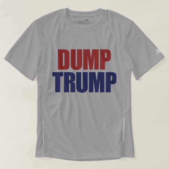 Dump Trump Men's New Balance T-Shirt