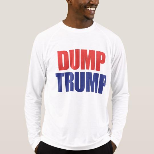 Dump Trump Men's Sport-Tek Fitted Performance Long Sleeve T-Shirt