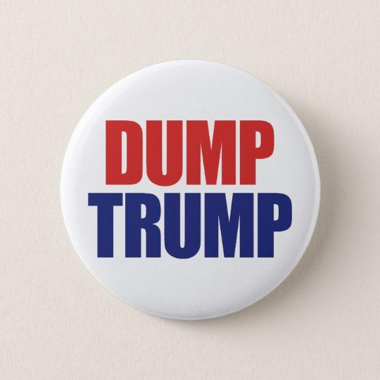 Dump Trump Round Paper Coaster