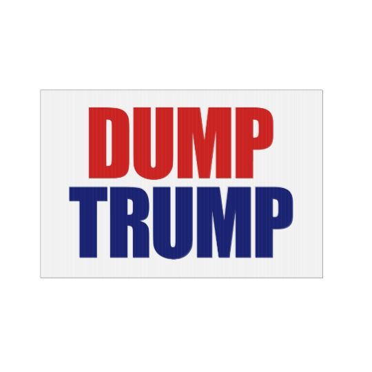 Dump Trump Small SpeedySigns Yard Sign