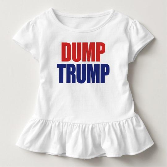 Dump Trump Toddler Ruffle Tee