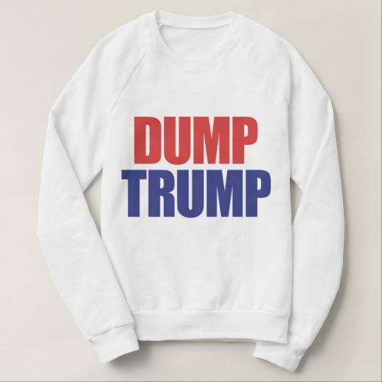 Dump Trump Women's American Apparel Raglan Sweatshirt